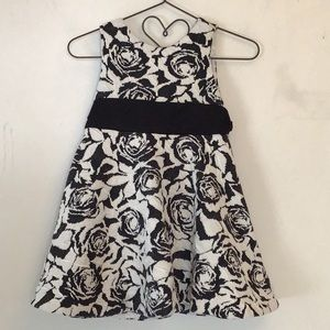 Janie and Jack black & white floral dress